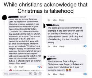 Christenen online tegen kerst